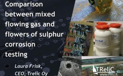 Comparison between mixed flowing gas and flowers of sulphur corrosion testing